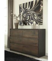 Ashley Windlore 6-Drawer Dresser in Dark Brown (25AS-B320-31)