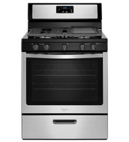 Whirlpool 5.1 Cu. Ft. Freestanding 5 Burner Gas Range in Black on Stainless (61WH-WFG505M0BS)