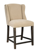 Ashley Moriann Upholstered Counter Height Bar Stool in Light Beige (25AS-D608-524)