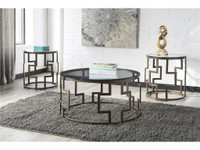 Ashley Frostine Set of Three Occasional Table Set in Dark Bronze (25AS-T138-13)