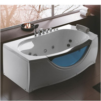 Whirlpool Massage Bathtub with Tempered Glass Window 07KO-K1066