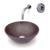 Corona Oxi Cobre Porcelain Vessel Basin in Copper (08COR-01475275)