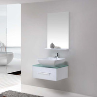 Wall-Mounted Bathroom Cabinet with Single Ceramic Basin 08KO-K8059