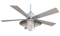 "Minka-Aire Rainman 54"" 5 Blade Outdoor Ceiling Fan in Galvanized (29MI-F582-GL)"
