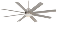 "Minka-Aire Slipstream 65"" 8 Blade Outdoor Ceiling Fan in Brushed Nickel (29MI-F888-BNW)"