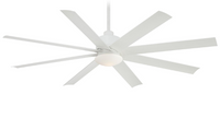 "Minka-Aire Slipstream 65"" 8 Blade Outdoor Ceiling Fan in White (29MI-F888-WHT)"