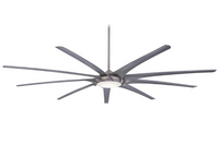 "Minka-Aire Ninety Nine 99"" 9 Blade Indoor Ceiling Fan in Brushed Nickel (29MI-F899L-BN-SL)"