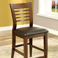 Furniture of America Dwight 11 Counter Height Chair in Brown Cherry (25FA-CM3988PC)