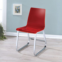 Furniture of America Yvetti Side Chair in Red (25FA-CM3990RD-SC)
