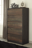 Ashley Windlore 6 Drawer Chest in Dark Brown (25AS-B320-46)