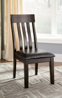 Ashley Haddigan Dining Room Upholstered Side Chair in Dark Brown (25AS-D596-01)