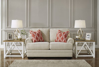 Ashley Sansimeon Loveseat in Stone (25AS-7990435)