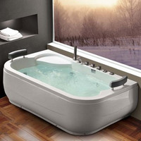 Active Home Centre Two Person Whirlpool Bathtub in White (07KO-K1213)