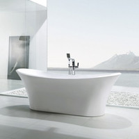 Active Home Centre Free-Standing Acrylic Bathtub in White (07KO-K1528)