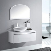 Active Home Centre Wall-Mounted Bathroom Cabinet with Vessel Basin and Mirror (08KO-K8063)