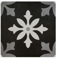 """Active Home Centre Degas Negro 9""""x 9"""" Porcelain Tile (10PAS-DEGNEGRO99)"""