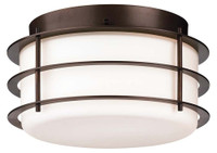 Active Home Centre 2 Light Flush Mount in Oil Rubbed Bronze (31GO-SC9974-2ROB-ORB)