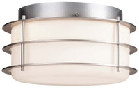 Active Home Centre 2 Light Flush Mount in Silver (31GO-SC9974-2-SL)