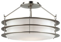 Active Home Centre 2 Light Semi Flush Mount in Silver (31GO-SC9976-2-SL)