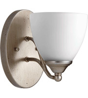 Quorum Brooks Wall Sconce in Aged Silver Leaf