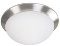 Active Home Centre 1-Light Flush Mount in Satin Nickel