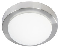 Active Home Centre 1-Light Flush Mount in Matt Satin Nickel