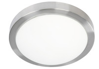 Active Home Centre 2-Light Flush Mount in Matt Satin Nickel