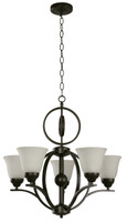 Active Home Centre 5-Light Chandelier in Dark Brown