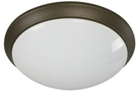 Active Home Centre 18W 1-Light Flush Mount in Oiled Bronze