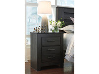 Ashley Brinxton 2 Drawer Nightstand in Black