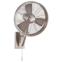 "Minka Aire Anywhere 15"" Oscillating Wall Fan in Brushed Nickel"