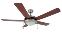 "Bali 52"" Kingston Indoor Ceiling Fan in Brushed Chrome"