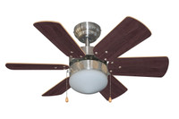 "Bali 30"" Caymanas Indoor Ceiling Fan in Brushed Chrome"
