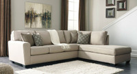 Ashley Calicho 2 Piece Sectional in Ecru