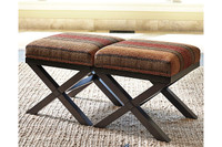 Ashley Fiera Accent Ottoman in Brick (Set of 2)