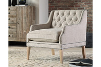 Ashley Trivia Accent Chair in Bone