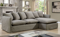 Furniture of America Rosanna II Sectional in Gray