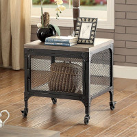 Furniture of America Ursula End Table in Gray