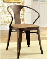 Furniture of America Cooper I Side Chair in Natural Elm