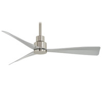 "Minka-Aire Simple 44"" Indoor Ceiling Fan in Brushed Nickel Wet"
