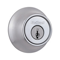 Single Cylinder Deadbolt in Satin Chrome