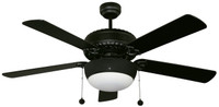 "Active Home Centre 52"" Ceiling Fan with Bluetooth Speaker in Matt Black"