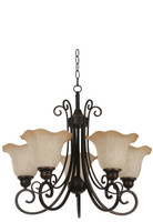 Active Home Centre 5 Light Chandelier in Dark Brown