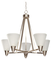 Active Home Centre 5 Light Chandelier in Satin Nickel
