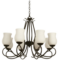Active Home Centre 8 Light Chandelier in Dark Brown