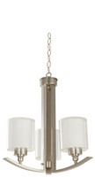 Active Home Centre 3 Light Chandelier in Satin Nickel