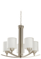 Active Home Centre 5-Light Chandelier in Satin Nickel