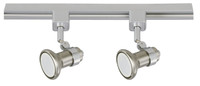 Active Home Centre 2 Light Track Light in Satin Nickel