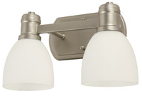 Active Home Centre 2-Light Vanity Light in Matt Nickel