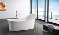 Select Q156A Freestanding Oval Bathtub In White